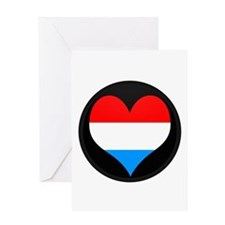 I love LUXEMBOURG Flag Greeting Card