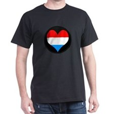 I love LUXEMBOURG Flag T-Shirt