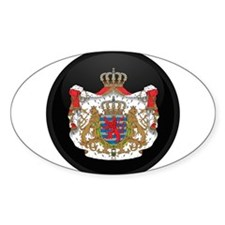 Coat of Arms of LUXEMBOURG Oval Decal