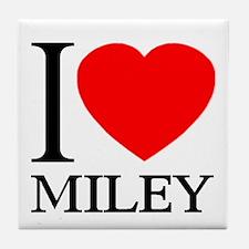 I (Heart) MILEY Tile Coaster