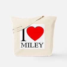 I (Heart) MILEY Tote Bag