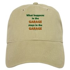 Stays In The Garage Baseball Cap