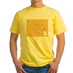 Hawaiian island topical map Yellow T-Shirt