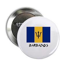 """Barbados Flag 2.25"""" Button"""