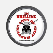 Shit Happens In Drilling Wall Clock,Rock Bit,Oil