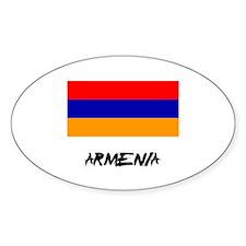 Armenia Flag Oval Decal