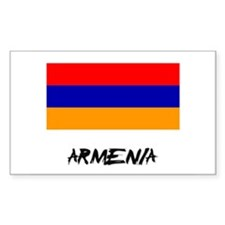 Armenia Flag Rectangle Decal