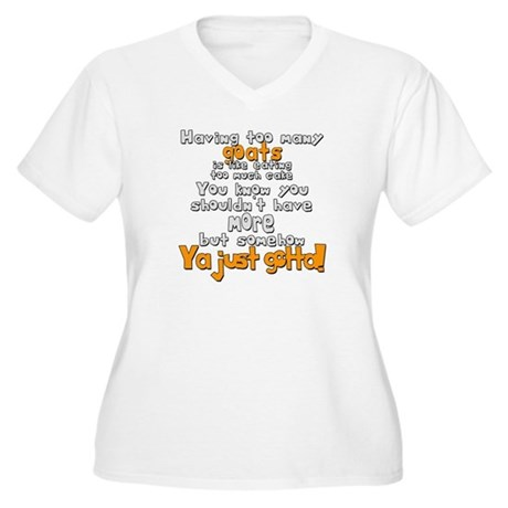 Goats and Cake Women's Plus Size V-Neck T-Shirt