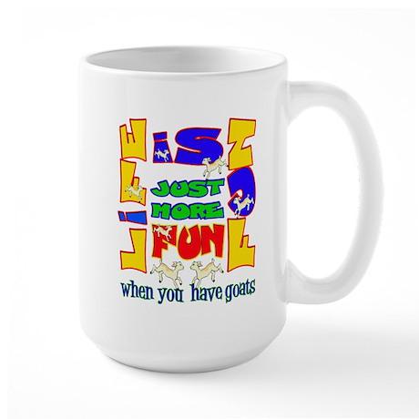 Life is Fun with Goats Large Mug