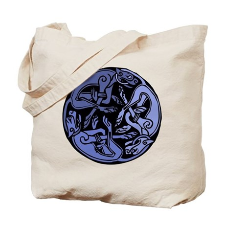 Celtic Chasing Hounds 1b Tote Bag