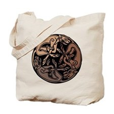 Celtic Chasing Hounds 1c Tote Bag