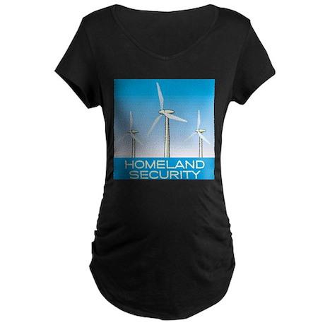 Wind Power America Maternity Dark T-Shirt
