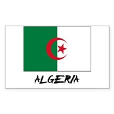 Algeria Flag Rectangle Decal