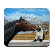 Horse and Kitty Mousepad