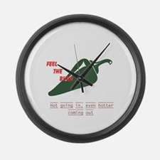 Rude Gross Hot Jalapeno Large Wall Clock