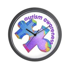 Pastel Autism Puzzle Wall Clock