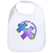 Pastel Autism Puzzle Bib