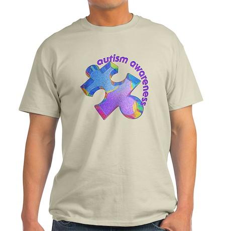 Pastel Autism Puzzle Light T-Shirt