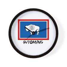 Wyoming Flag Wall Clock