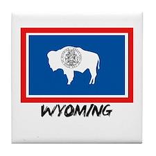 Wyoming Flag Tile Coaster