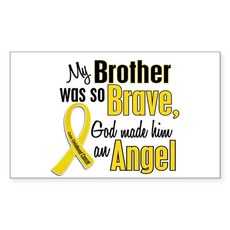 Angel 1 BROTHER Child Cancer Rectangle Sticker