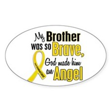 Angel 1 BROTHER Child Cancer Oval Decal