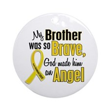 Angel 1 BROTHER Child Cancer Ornament (Round)