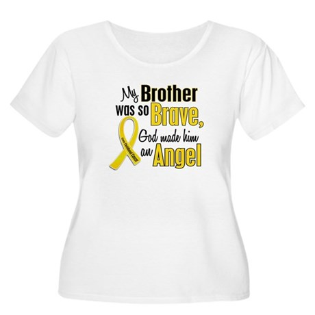 Angel 1 BROTHER Child Cancer Women's Plus Size Sco