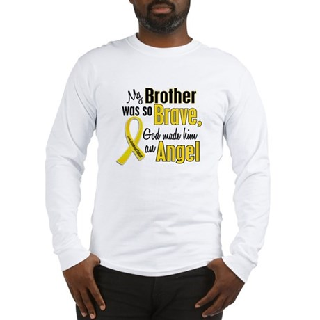 Angel 1 BROTHER Child Cancer Long Sleeve T-Shirt