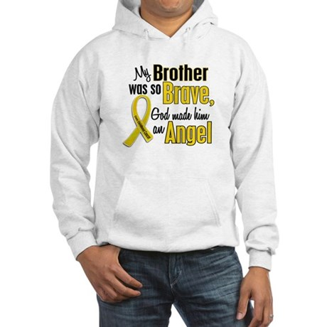 Angel 1 BROTHER Child Cancer Hooded Sweatshirt