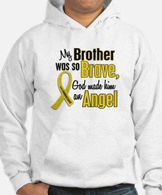 Angel 1 BROTHER Child Cancer Hoodie