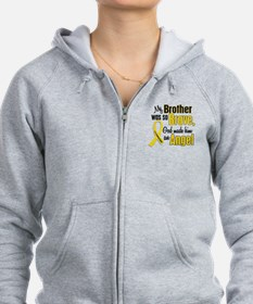 Angel 1 BROTHER Child Cancer Zip Hoodie