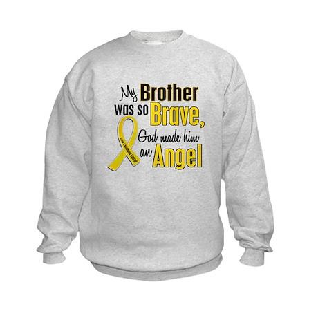 Angel 1 BROTHER Child Cancer Kids Sweatshirt