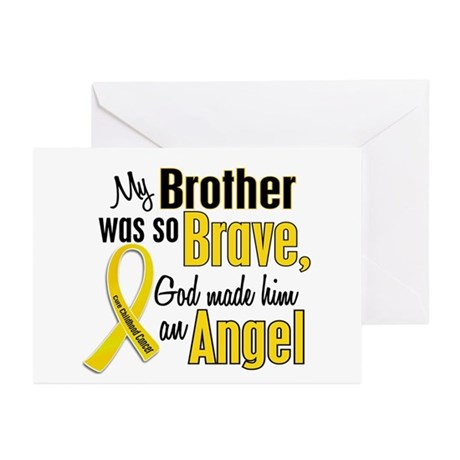 Angel 1 BROTHER Child Cancer Greeting Cards (Pk of