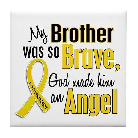 Angel 1 BROTHER Child Cancer Tile Coaster