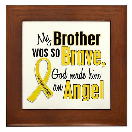 Angel 1 BROTHER Child Cancer Framed Tile
