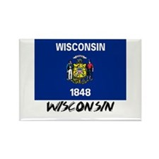 Wisconsin Flag Rectangle Magnet
