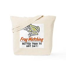 Frog Watching Tote Bag