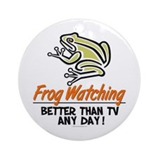 Frog Watching Ornament (Round)