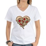 Pizza Heart Women's V-Neck T-Shirt