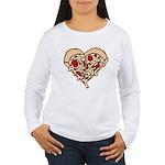 Pizza Heart Women's Long Sleeve T-Shirt