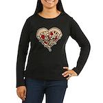 Pizza Heart Women's Long Sleeve Dark T-Shirt