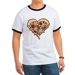 Pizza Heart Ringer T