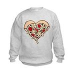 Pizza Heart Kids Sweatshirt