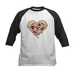 Pizza Heart Kids Baseball Jersey