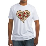 Pizza Heart Fitted T-Shirt
