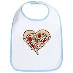 Pizza Heart Bib