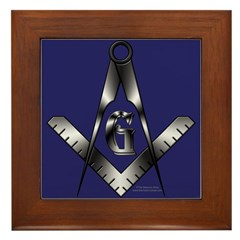 The Free Mason Framed Tile