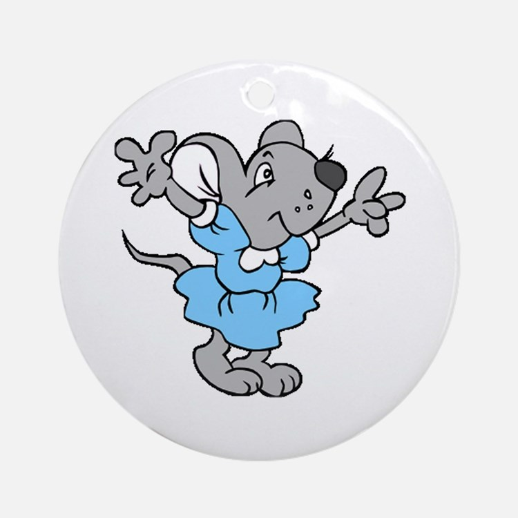 Missy Mouse Ornament (Round)