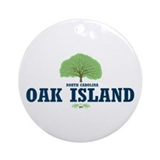Oak Island NC Ornament (Round)